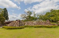 Fondamento del donjon del castello di Tanabe in Maizuru, Giappone Immagine Stock