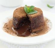 Fondant десерта шоколада Стоковое Изображение