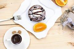 Fondant chaud de gâteau de chocolat de dessert Photographie stock libre de droits