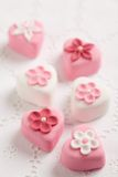 Fondant-covered petit fours Royalty Free Stock Images