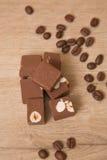 Fondant de chocolat avec des écrous Image stock