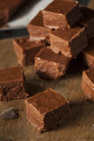 Fondant de chocolat foncé fait maison Image libre de droits