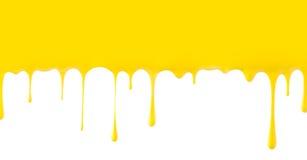 Fondant et banane d'égouttement Photo libre de droits