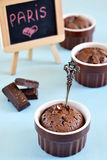 Fondant för chokladkaka royaltyfri foto