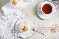 Fondant lava cake with strawberries jam. Selective focus. Restaurant dessert menu background royalty free stock image