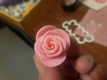 Fondant Rose. Sweet treat cake royalty free stock image