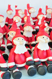Fondant Santas. Santas made of fondant sitting together Royalty Free Stock Images