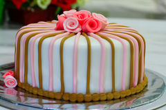 Fondant tort dla urodziny Fotografia Royalty Free