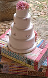 Fondant wedding cake Royalty Free Stock Image