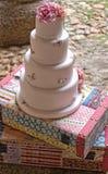 Fondant wedding cake Royalty Free Stock Image