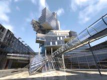 Fondation architecturale très moderne, faite de verre et Photo libre de droits
