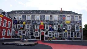 Fondation du Doute, le mur du本在布卢瓦 免版税库存图片