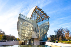 Fondation louis vuitton Stock Photography