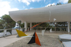 Fondation Maeght scupture Royaltyfria Bilder
