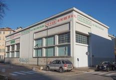 Fondazione Merz美术画廊在都灵 免版税图库摄影