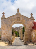 Fondazione Paola. Arch built in 1731 situated in Kuncizzjoni in Malta Royalty Free Stock Photo
