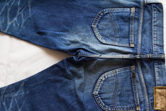 Fondi del denim Fotografia Stock