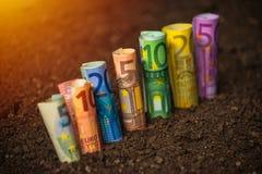 Fondi dell'euro per agricoltura Fotografia Stock