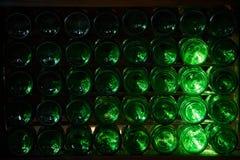 Fondi delle bottiglie di birra Fotografia Stock Libera da Diritti