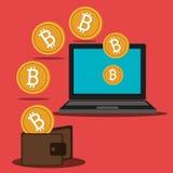 Fondi virtuali Bitcoin Fotografie Stock Libere da Diritti