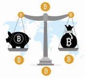 Fondi virtuali Bitcoin Fotografia Stock