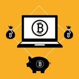 Fondi virtuali Bitcoin Immagine Stock Libera da Diritti