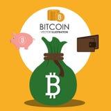 Fondi virtuali Bitcoin Fotografia Stock Libera da Diritti