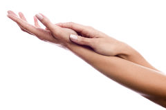 Fondling hands Royalty Free Stock Photo