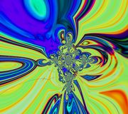 Fondo ácido abstracto del arco iris Impresión de la lona imagen de archivo