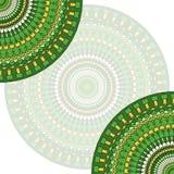 Fondo étnico dibujado mano de la tarjeta del cordón Plantilla abstracta ornamental Fotografía de archivo libre de regalías