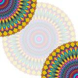 Fondo étnico dibujado mano de la tarjeta del cordón Plantilla abstracta ornamental Imagen de archivo libre de regalías