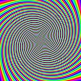Fondo óptico psicodélico de la ilusión de la vuelta imagen de archivo