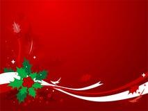 Fondo #1 del acebo de la Navidad Foto de archivo libre de regalías