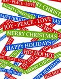 Fondo 2 de los saludos de la Navidad Imagenes de archivo