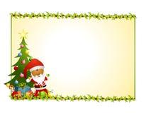 Fondo 2 del acebo de Papá Noel Imágenes de archivo libres de regalías