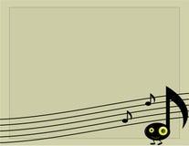Fondo 2 del carácter de la nota musical Fotografía de archivo
