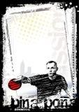 Fondo 2 del cartel del ping-pong stock de ilustración