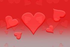 Fondo 2 del corazón de la tarjeta del día de San Valentín Imagenes de archivo