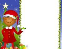Fondo 2 del duende de Navidad Fotografía de archivo libre de regalías