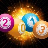 fondo 2013 de las bolas de la lotería del bingo Fotos de archivo libres de regalías