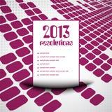 fondo 2013 della lista di risoluzione Immagine Stock