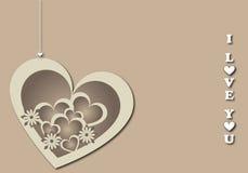 Fondo 3 de la tarjeta del día de San Valentín Imagen de archivo