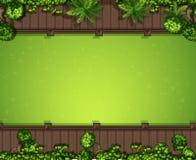 Fondo aéreo de la hierba verde ilustración del vector