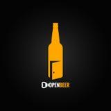 Fondo abierto del concepto de la botella de cerveza Fotografía de archivo libre de regalías