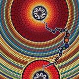 Fondo aborigen del vector del arte Fotografía de archivo libre de regalías