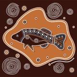 Fondo aborigen del vector del arte Fotos de archivo