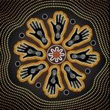 Fondo aborigen del vector del arte Imagen de archivo