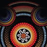 Fondo aborigen del vector del arte Foto de archivo libre de regalías