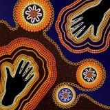 Fondo aborigen del vector del arte Fotos de archivo libres de regalías