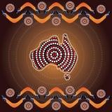 Fondo aborigen del vector del arte Imagenes de archivo